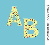 letters ab made out of colored... | Shutterstock . vector #772749571