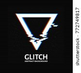 glitched triangle frame.... | Shutterstock .eps vector #772749817