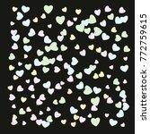 hearts confetti  bright... | Shutterstock .eps vector #772759615