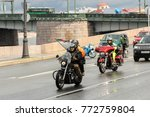 people on motorcycles with... | Shutterstock . vector #772759804