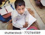 portrait of rural school boy...   Shutterstock . vector #772764589