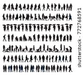 large set of silhouettes ... | Shutterstock .eps vector #772768591