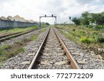 vintage railroad switch | Shutterstock . vector #772772209