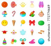 feast for child icons set.... | Shutterstock .eps vector #772774669