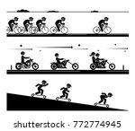 various types of transport.... | Shutterstock .eps vector #772774945