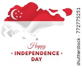 singapore independence day.... | Shutterstock .eps vector #772775251