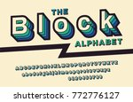 retro font 90's  80's with... | Shutterstock .eps vector #772776127