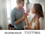 couple having fun and laughing... | Shutterstock . vector #772777801