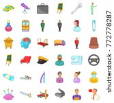 recruiting icons set. cartoon... | Shutterstock .eps vector #772778287