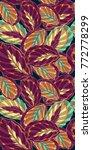 jungle leaf botanical vector...   Shutterstock .eps vector #772778299