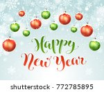 happy holidays greeting card.... | Shutterstock .eps vector #772785895