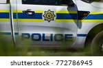 close up of a police pick up in ... | Shutterstock . vector #772786945