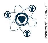 social relations conceptual... | Shutterstock .eps vector #772787047