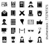 writer icons set. simple set of ... | Shutterstock .eps vector #772787371