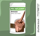 protein shake chocolate | Shutterstock .eps vector #772788727