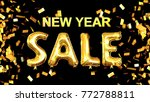 sale new year background  3d... | Shutterstock . vector #772788811