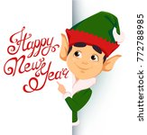 happy new year greeting card.... | Shutterstock .eps vector #772788985