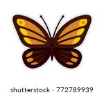 butterfly in flat style vector... | Shutterstock .eps vector #772789939