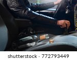 drunk driving concept. young... | Shutterstock . vector #772793449