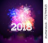 2018 happy new year... | Shutterstock .eps vector #772794925