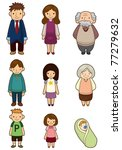 cartoon family icon | Shutterstock .eps vector #77279632