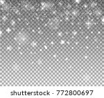 snow flakes  snow background.... | Shutterstock .eps vector #772800697
