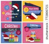 christmas sale banner... | Shutterstock .eps vector #772800721