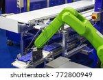 industry 4.0 robot concept .the ... | Shutterstock . vector #772800949