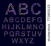 creative alphabet out of... | Shutterstock .eps vector #772803115
