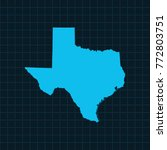 map of texas | Shutterstock .eps vector #772803751