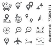 map and travel icon set | Shutterstock .eps vector #772806541