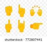 set of hands on transparent...   Shutterstock .eps vector #772807441