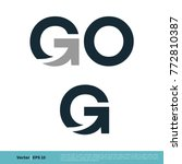 Go And Letter G Icon Vector...