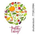 healthy eating agitation poster ... | Shutterstock .eps vector #772813984