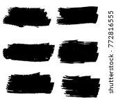 vector black paint  ink brush...   Shutterstock .eps vector #772816555
