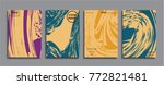 creative colored marble cover.... | Shutterstock .eps vector #772821481