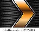abstract gold silver line arrow ... | Shutterstock .eps vector #772822801
