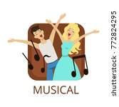 misical cinema or theatre genre ... | Shutterstock .eps vector #772824295