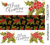set of christmas banners with... | Shutterstock .eps vector #772825759