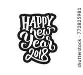sticker design with typography... | Shutterstock .eps vector #772825981