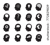 man head mind thinking vector... | Shutterstock .eps vector #772829839