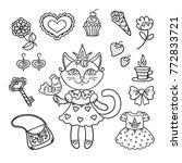 vector  illustration  outline ... | Shutterstock .eps vector #772833721