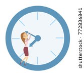 time management concept. woman... | Shutterstock .eps vector #772836841