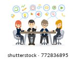 people at work. business people ... | Shutterstock .eps vector #772836895