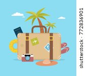 summer vacation concept. travel ... | Shutterstock .eps vector #772836901
