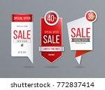 sale banner template | Shutterstock .eps vector #772837414