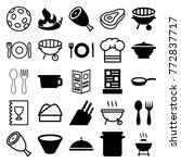 set of 25 cook filled and... | Shutterstock .eps vector #772837717