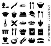set of 25 cooking filled icons... | Shutterstock .eps vector #772837807