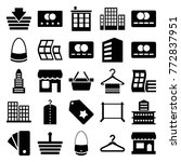 set of 25 retail filled icons... | Shutterstock .eps vector #772837951