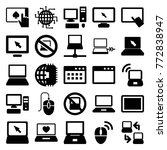 set of 25 pc filled icons such... | Shutterstock .eps vector #772838947